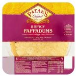 Pataks Plain Spiced Ready To Eat 8 Pack 65g
